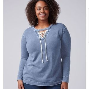 Tie front sweatshirt #12